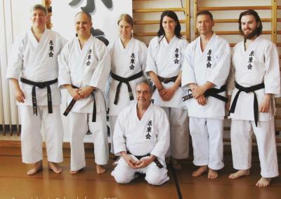 2015-05-10 stage karate shitokai schweiz - yasunari ishimi sensei 10°dan shitokai - dübendorf (zh) - mario, jean-françois, florence, margot, laurent, sandro et pierre [kcg]
