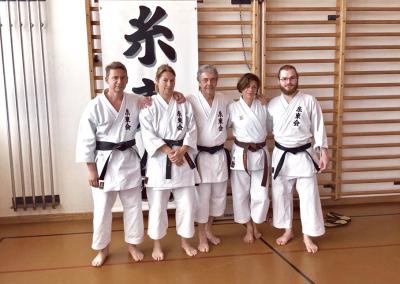 2016-05-22 - stage karate shitokai schweiz - yasunari ishimi 10°dan shitokai - dübendorf (zh) laurent, florence, sensei pierre sibille, béatriz et sandro [kcg]