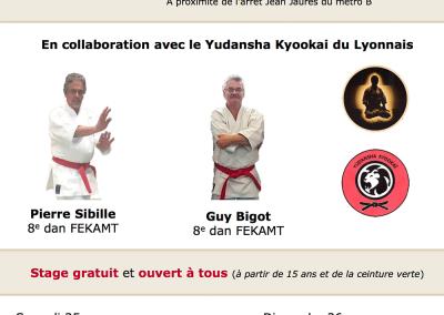 2017-03-25 - stage karate fekamt no kachi - études des kumité imposés - sensei pierre sibille et guy bigot 8°dan fekamt lyon (69) (affiche)