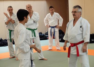 2017-03-25 - stage karate fekamt no kachi - études des kumité imposés - sensei pierre sibille et guy bigot 8°dan fekamt - lyon (69) - 0356 - yanis et sensei guy
