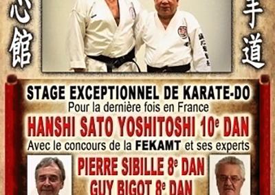 2017-09-16 - stage exceptionnel de karate do fekamt - hanshi yoshitosh isato sensei 10°dan shorinji ryu, pierre sibille et guy bigot 8°dan fekamt - cléon d'andran (26) (affiche)